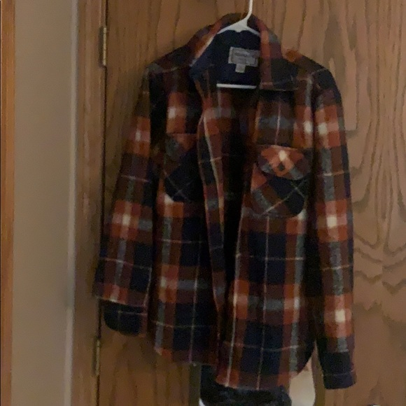 vintage clothing block plaid shirt 1960s shirt rockabilly shirt orange shirt Vintage shirt size medium